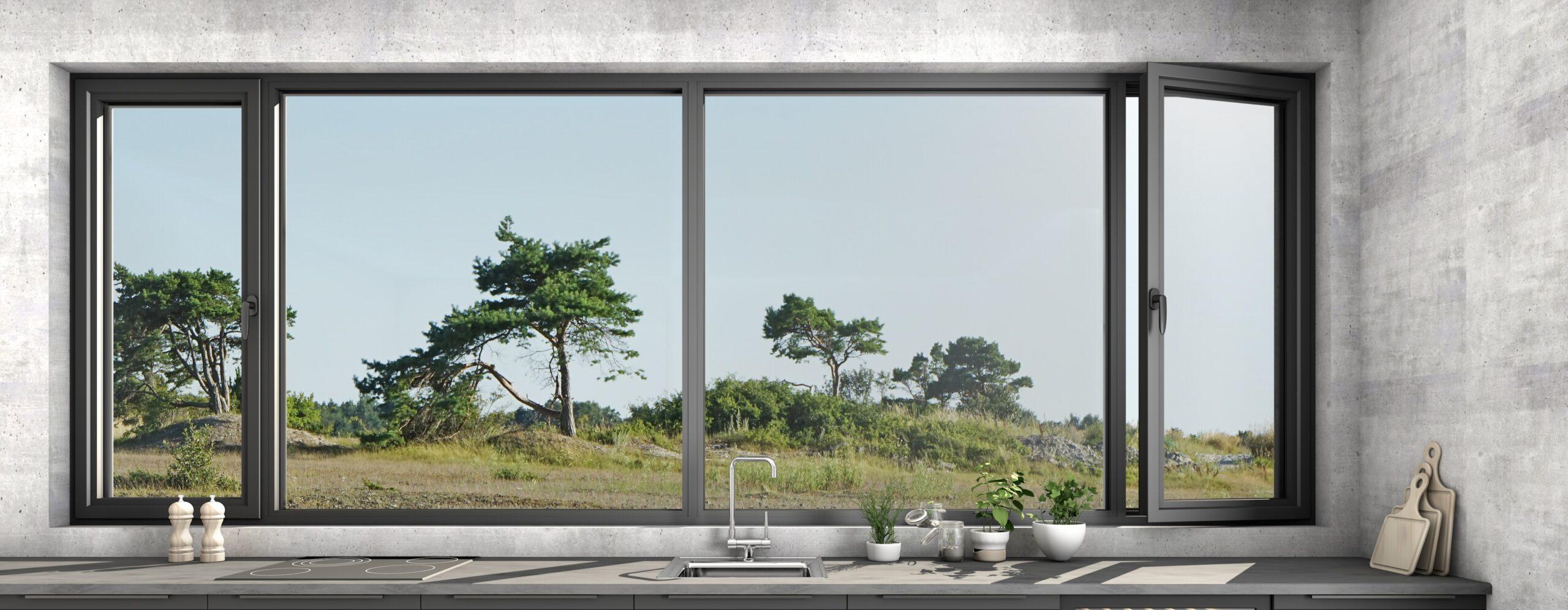 aliuminio profilio langai